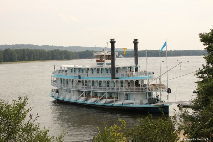 8. Sight see Iowa from the water on a riverboat cruise