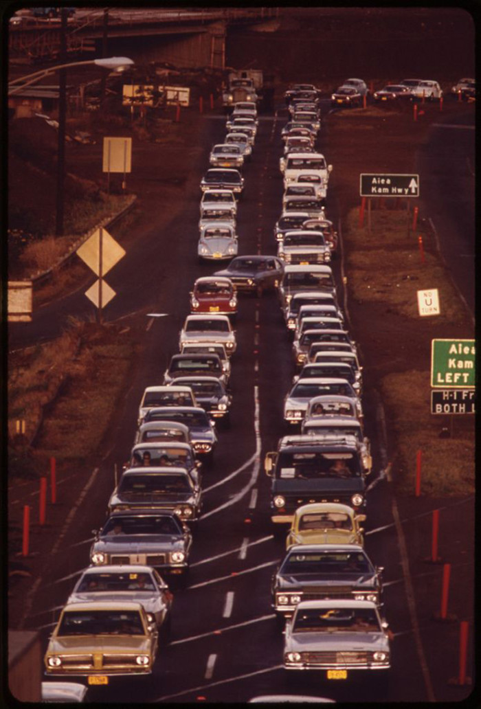 8. Honolulu traffic doesn't seem to have changed much.