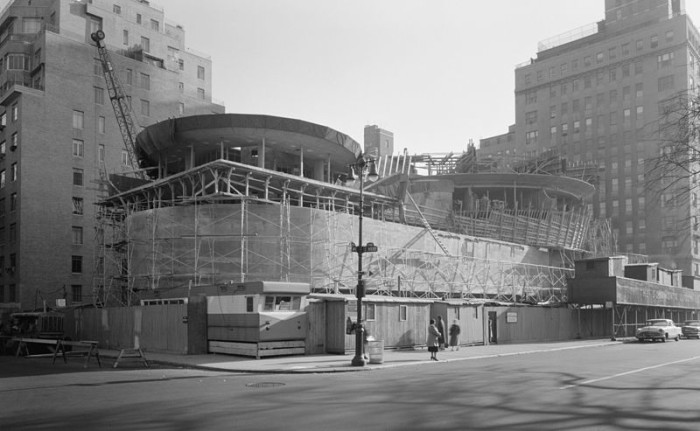6. The Guggenheim Museum during its construction in 1957.