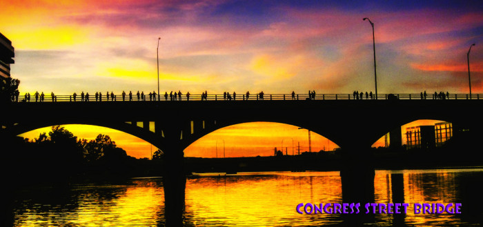 3. A colorful canvas of a frequently beautiful sunset - Congress bridge.