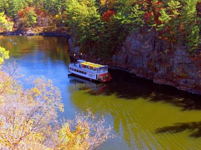 Lunch in Taylors Falls can be followed by a riverboat tour, and a short hike in Interstate State Park.