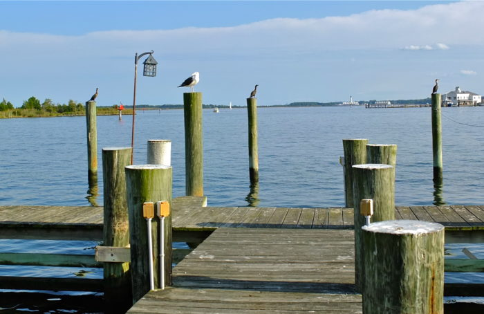 Walk off your meal along the numerous serene piers...
