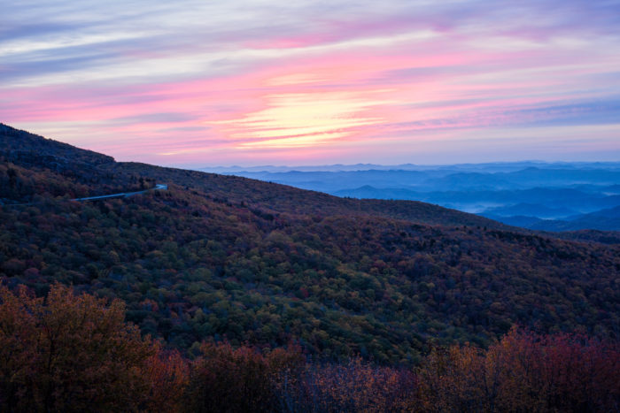 16. You can stop over 250 times on the Blue Ridge Parkway - perfect for pictures, picnics, or just soaking in some incredible scenery.