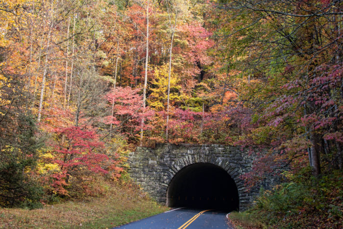 6. There are 26 total tunnels on the Blue Ridge Parkway, with 25 of those being in North Carolina.