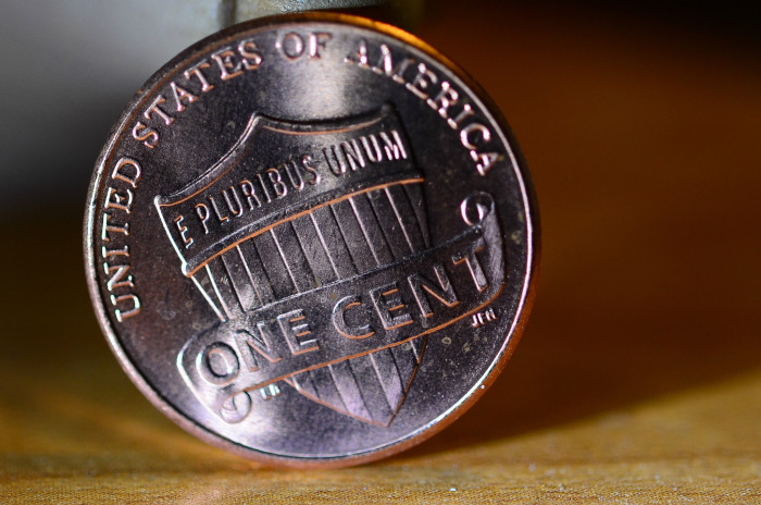 8.  That makes cents.