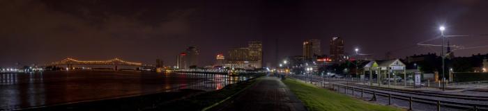3) Panorama of the Riverwalk New Orleans