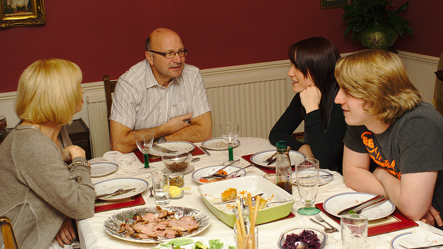 6. We eat Sunday dinner with our family.