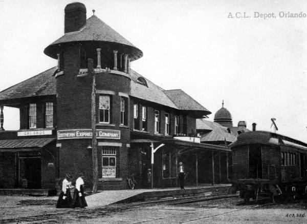 4. Old Orlando Railroad Depot, 1910