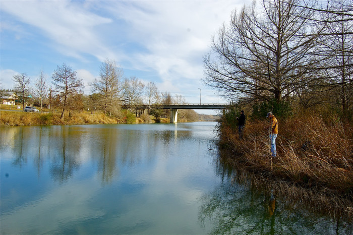 8. Go on a peaceful fishing trip at Blanco State Park.