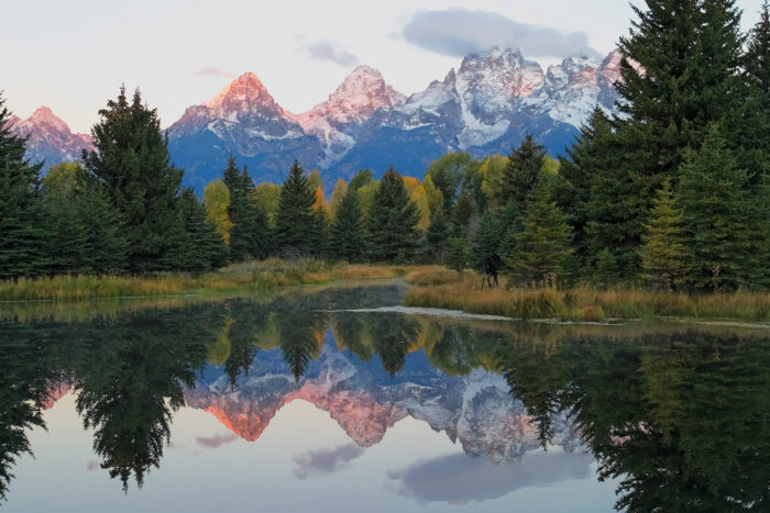 11. Look at the reflection and symmetry in this picture at Schwabacher Landing. Picture perfect!