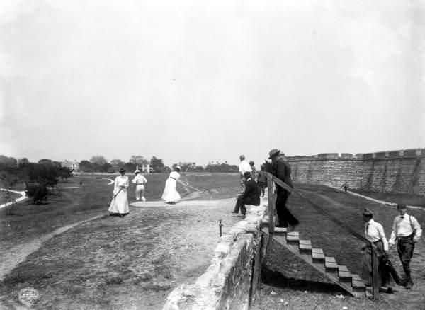 6. Golfers at Castillo de San Marcos: St. Augustine, 1902