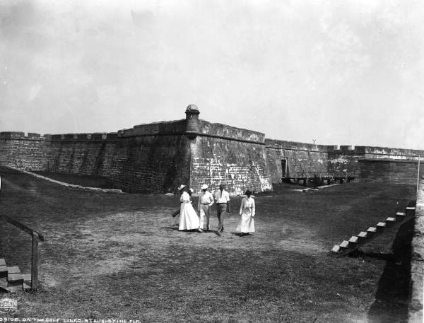 """""""On the golf links, St. Augustine, 1902"""