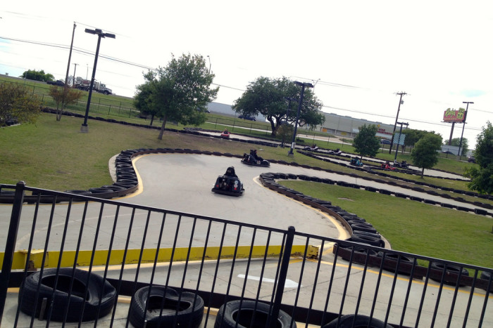 2. You should probably let your date win to make a good impression in a go-kart race at Austin Park and Pizza.