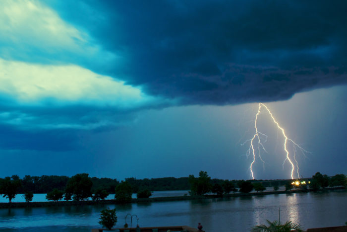 1. We watch dangerous storm systems from our front porches.
