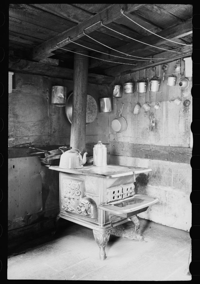 13. The cooking area in a Garrett County home.