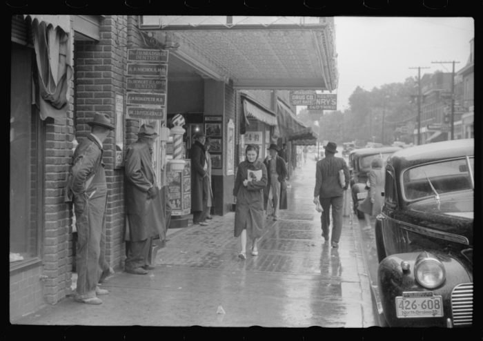 9. The streets of Roxboro look a little gloomy on this rainy day.