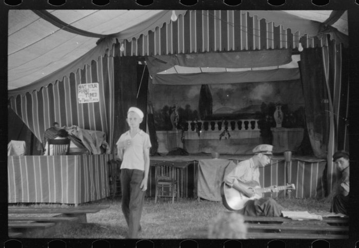 4. The traveling carnival followed migrant workers around and stopped where there was a large concentration of them. Their show included a band concert, movie, and vaudeville.