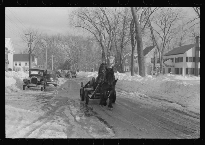 9. These houses line the road running through the center of town in Fryeburg, 1939.