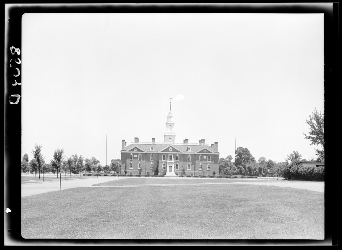 2. Legislative Hall in Dover, the state capitol, was built during the Great Depression; it was dedicated in 1933.