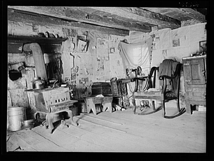 5. A peek inside a typical log cabin.