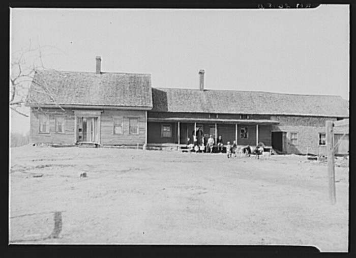 1. This is the farmhouse of a resettlement client in Waldo County, 1936.
