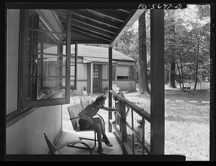 10. An open porch in Middle River. Check out those windows!