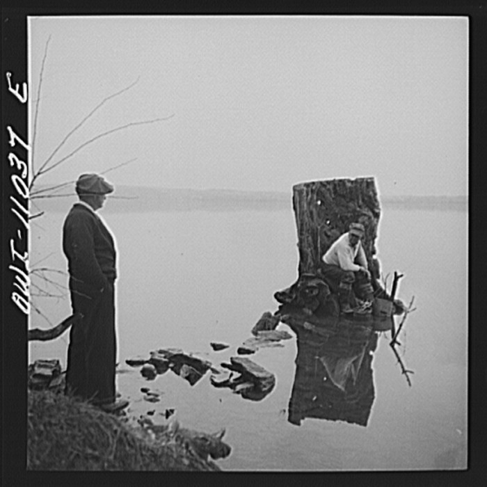 12. Salmon Fishing in Lancaster County, 1942.