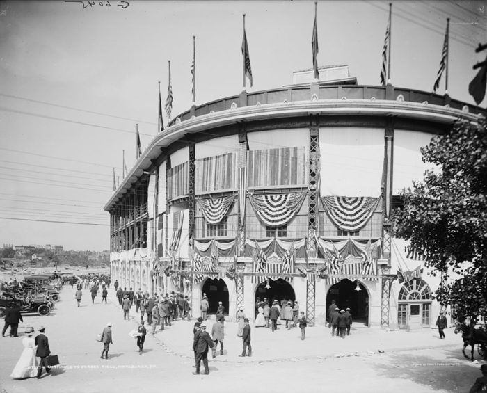 Forbes Field, the home of the PIttsburgh Pirates and such Pirates greats as Roberto Clemente.