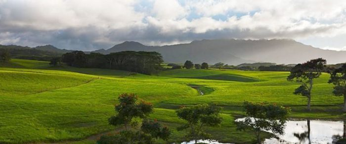 9. Puu Ka Ele Resevoir on the Jurassic Kahili Ranch was the backdrop for the scene featuring some of the new arrivals coming face to face with a brachiosaurus. The cattle ranch covers approximately 2,500 acres near Kilauea.