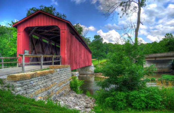 cataract falls covered bridge