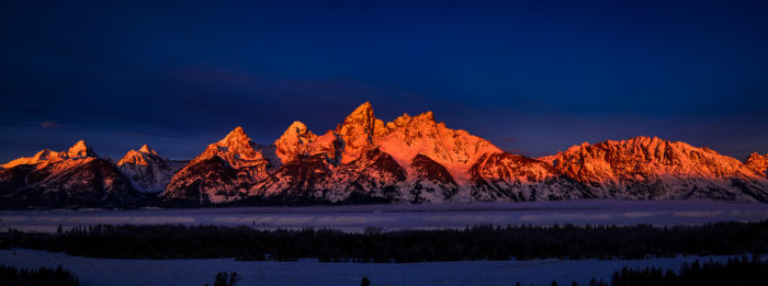 13. Wow! What a beautiful sunrise at the Grand Tetons.