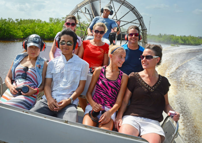 12. Take an exciting airboat ride.