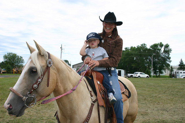 5. You rode a horse before you were able to walk.