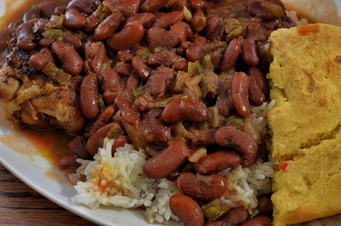 9. The red beans and rice