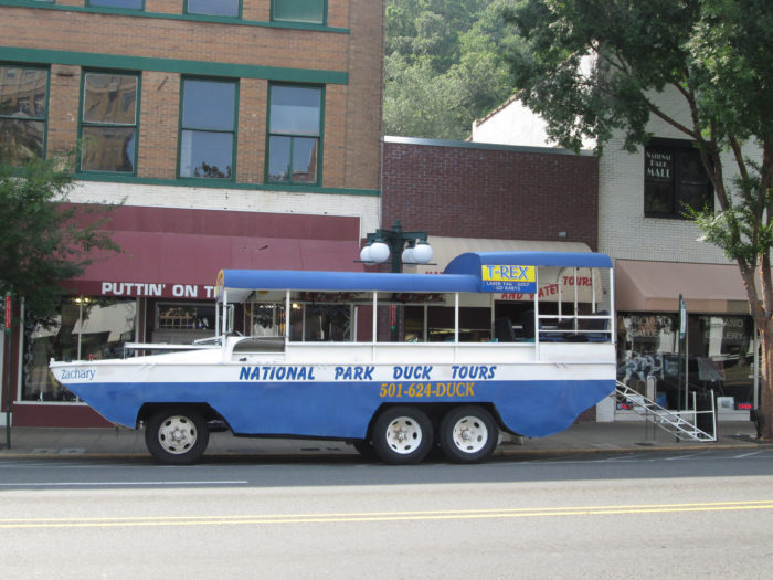 Are your legs tired? Try taking a Duck tour through historic Hot Springs and onto Lake Hamilton.