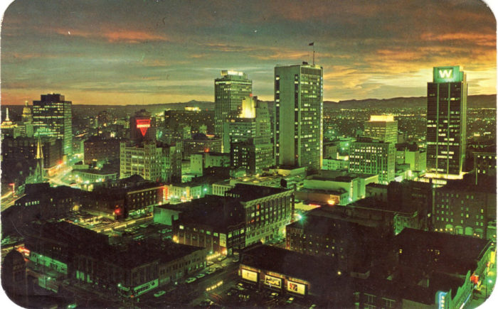 3. A captivating vintage edit of the heart of our dearly beloved downtown Denver.
