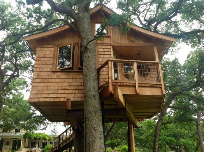 7. This dreamy little treehouse cabin is at Davis Ranch Retreat.