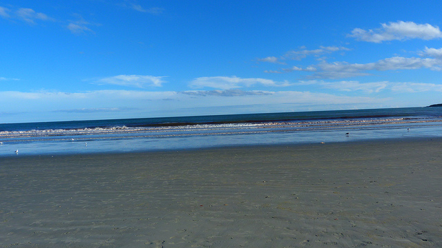 3. Easton's Beach in Newport is a picturesque spot to watch the sunset after a long day lounging in the sun.