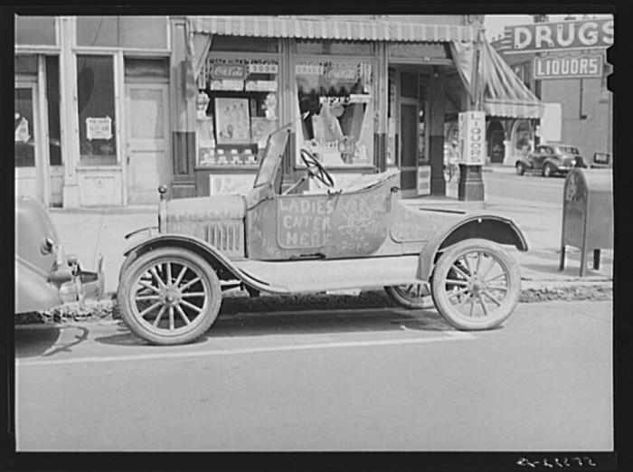 2. A Hep Cat car on Main Street in 1940.