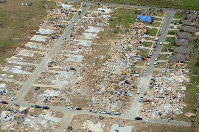 Here is another example of F4 damage, this one from a recent Vilonia, Arkansas tornado: