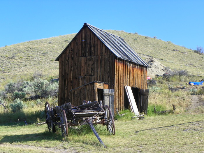 3. Bannack Barn and Wagon