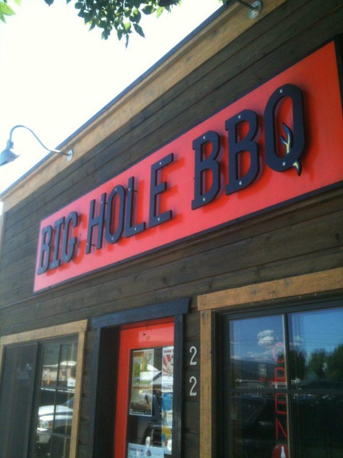 4. Big Hole BBQ, Victor