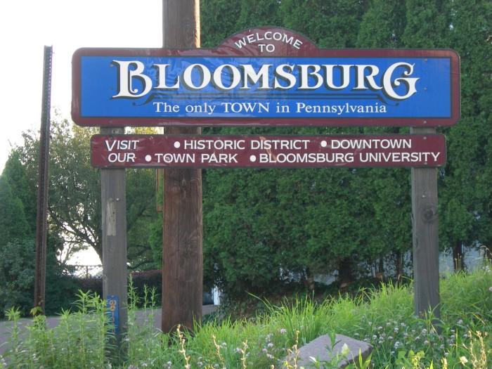Bloomsburg Sign