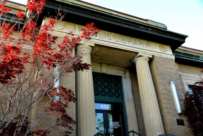 6. And the Carnegie Building, formally the public library, where the author spent much of his time.