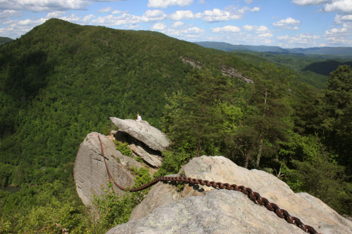 """""""Chained Rock"""" at Pine Mountain State Resort Park, overlooking Pineville."""