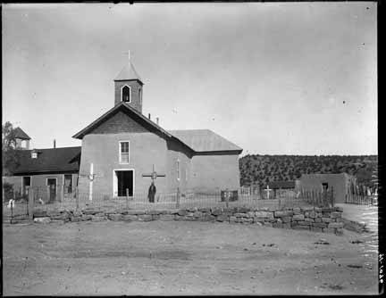 6. This is what Our Lady of Guadalupe Catholic Church in Villanueva looked like in 1915. The church is still standing.