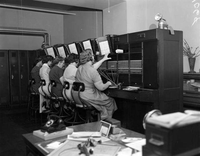 9. Telephone room operators (1955)