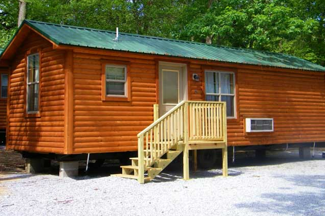 ABC Cape May offers a variety of lodging options. The Deluxe Cabin, pictured, is one of the most luxurious.
