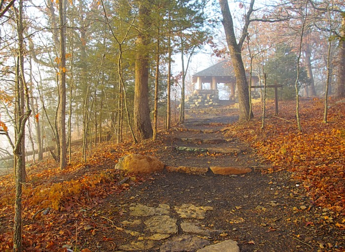 8. Hiking. Check out this trail at Devil's Den: