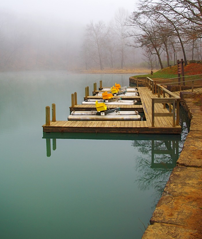 Even the pedal boat dock is a waking dream.